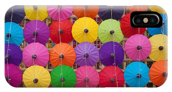 Culture iPhone Case - Colorful Handmade Umbrellas Bo Sang by Teerapon1979
