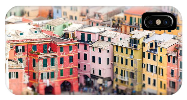 Historic House iPhone Case - Colorful Houses Of Vernazza With by Fischers