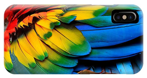 Central America iPhone Case - Colorful Of Scarlet Macaw Birds by Super Prin