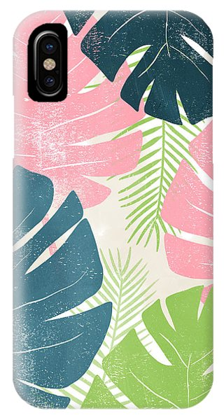 Leaf iPhone Case - Colorful Palm Leaves 1- Art By Linda Woods by Linda Woods