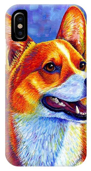 Colorful Pembroke Welsh Corgi Dog IPhone Case
