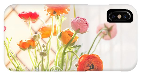 Bouquet iPhone Case - Colorful Persian Buttercup Flowers by Shebeko