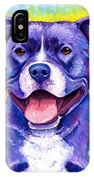 Colorful Pitbull Terrier Dog IPhone Case