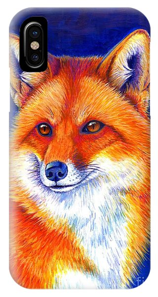 Colorful Red Fox IPhone Case