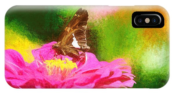 Colorful Silver Spotted Skipper Butterfly IPhone Case
