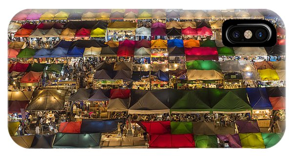 Colorful Street Market From Above Phone Case by Duke.of.arch