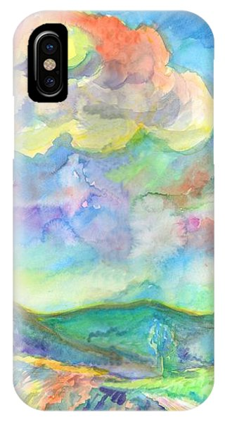 IPhone Case featuring the painting Colorful Summer Landscape by Dobrotsvet Art