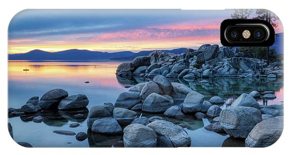 Colorful Sunset At Sand Harbor IPhone Case