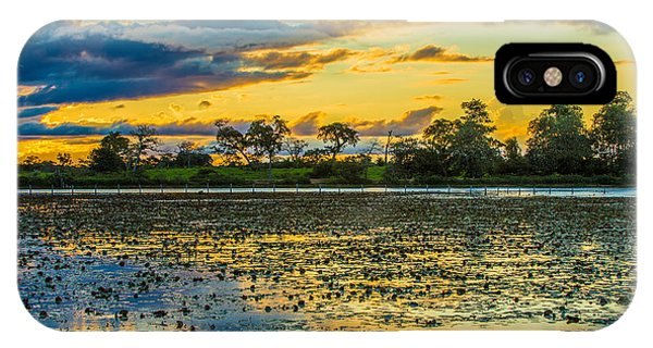 Kerala iPhone Case - Colorful Sunset In Pantanal, Brazil by Esb Professional