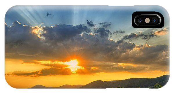 Serenity iPhone Case - Colorful Sunset In The Summer by Mihai tamasila