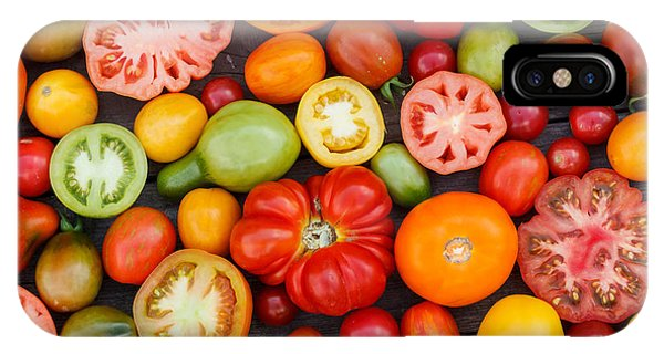 Open iPhone Case - Colorful Tomatoes by Shebeko