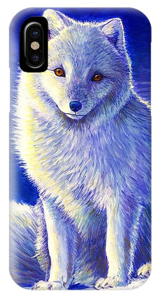 Colorful Winter Arctic Fox IPhone Case