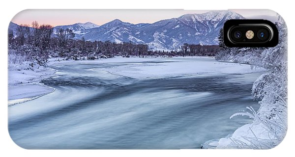 IPhone Case featuring the photograph Colorful Winter Morning by Leland D Howard
