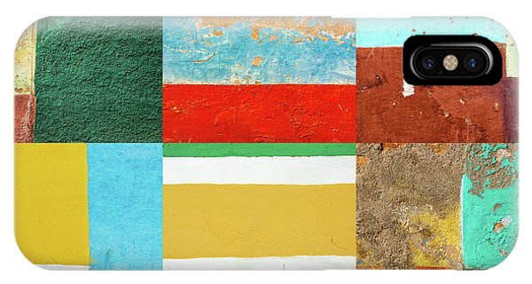 Rectangles iPhone X Case - Colors Of Trinidad by Delphimages Photo Creations