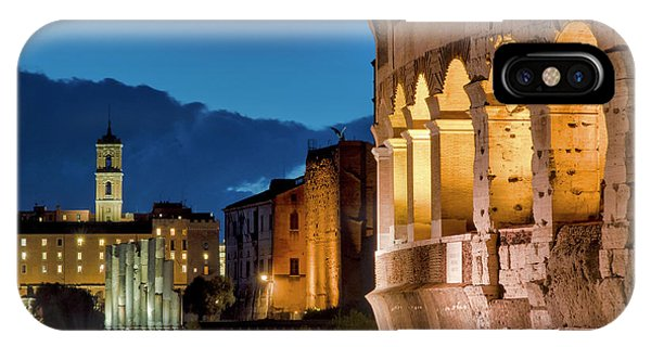 IPhone Case featuring the photograph Colosseum And The Campidoglio by Fabrizio Troiani