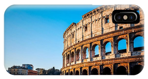 Ancient Rome iPhone Case - Colosseum In Rome In Rome, Italy by Ilolab