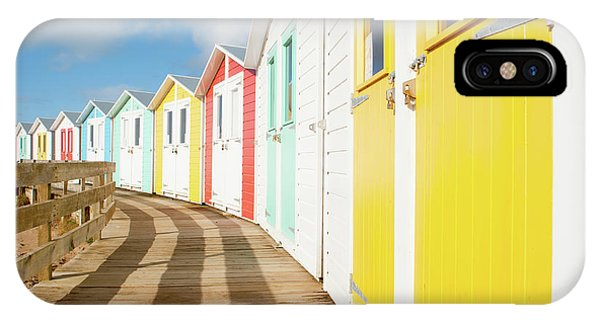 Colourful Bude Beach Huts IPhone Case