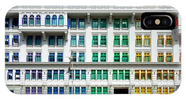 Old Building iPhone Case - Colourful Window Shutters  Of The Mica by Chris Howey