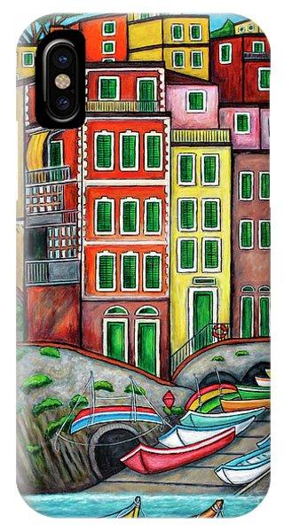 Colours Of Riomaggiore Cinque Terre IPhone Case