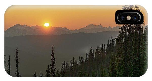 Columbia Mountain Sunset IPhone Case