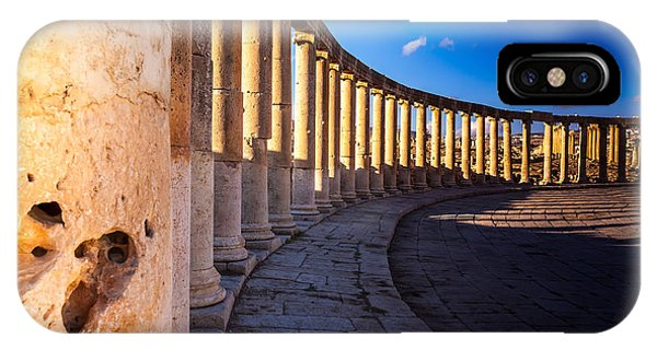 Discovery iPhone Case - Columns  In Ancient Ruins In The by Barnuti Daniel Ioan