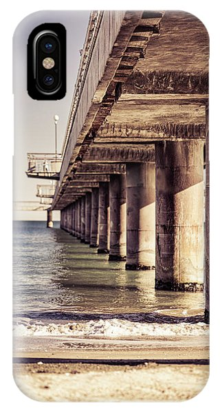IPhone Case featuring the photograph Columns Of Pier In Burgas by Milan Ljubisavljevic