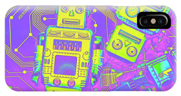Robot iPhone Case - Comic Circuitry Robots by Jorgo Photography - Wall Art Gallery