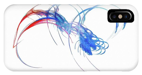 IPhone Case featuring the digital art Coming For You Blue by Don Northup