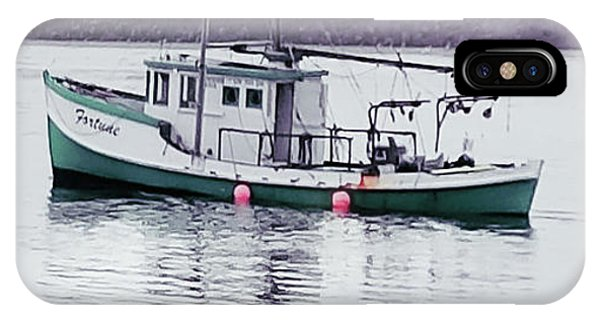 IPhone Case featuring the photograph Fishing Boat Coming Home by Deahn      Benware