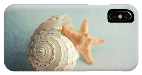 Nature Still Life iPhone Case - Conch Shell And Starfish by Tom Mc Nemar