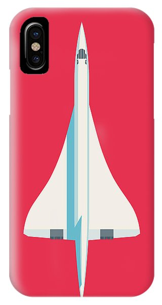 Concorde iPhone Case - Concorde Jet Airliner - Crimson by Ivan Krpan