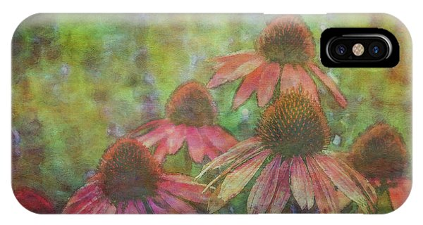 Coneflowers Among The Lavender 1667 Idp_2 IPhone Case