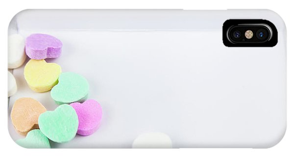 Conversation Hearts On A Notecard IPhone Case