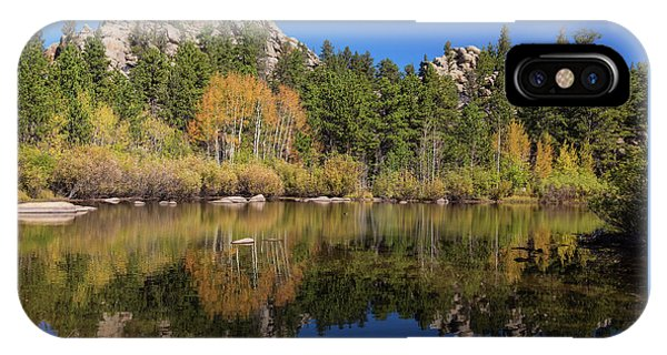 IPhone Case featuring the photograph Cool Calm Rocky Mountains Autumn Reflections by James BO Insogna