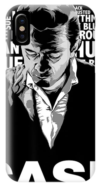 Johnny Cash iPhone Case - Cool Cash Man by Romeourdens