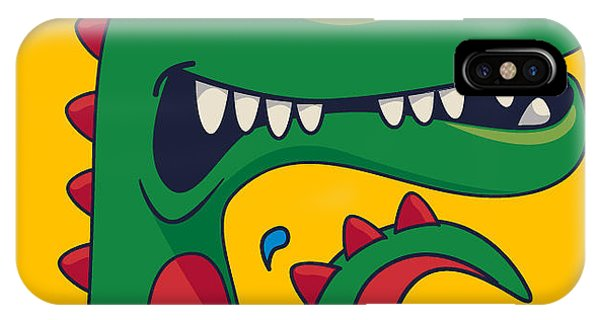 Surfboard iPhone Case - Cool, Cute Monster Crocodiles Character by Braingraph