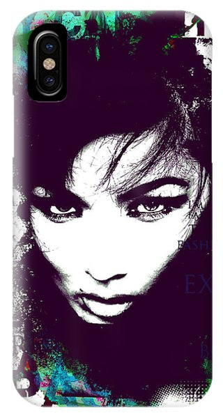 Sketch Pen iPhone Case - Cool Female Model Face  With by Alisa Franz