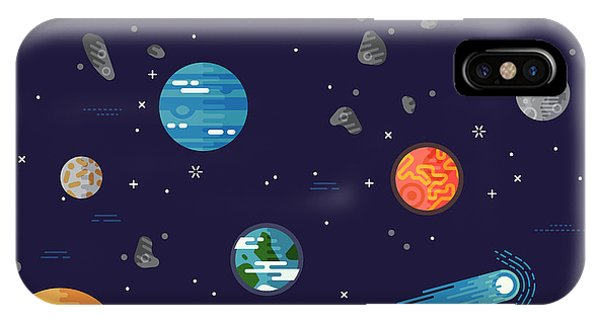 Planet iPhone Case - Cool Galaxy Planets And Stars Space by Mascha Tace