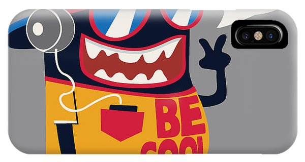 Cool Monster Graphic Phone Case by Braingraph
