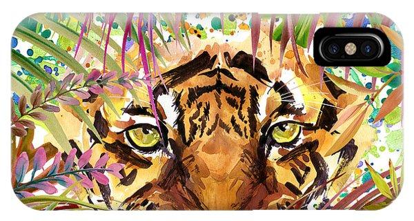 Danger iPhone Case - Cool Tiger. Watercolor Illustration by Faenkova Elena