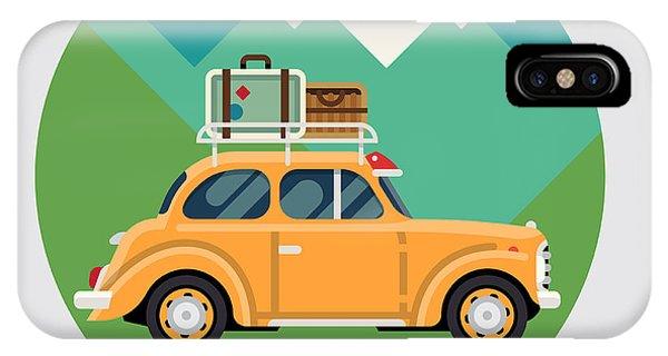 Travel Destination iPhone Case - Cool Vector Flat Design Modern Retro by Mascha Tace