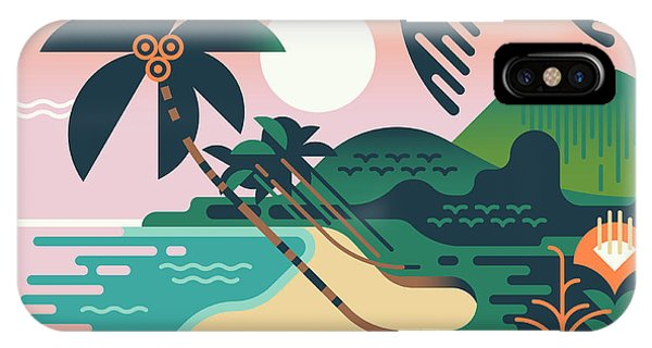 Shrub iPhone Case - Cool Vector Summer Vacation Exotic by Mascha Tace