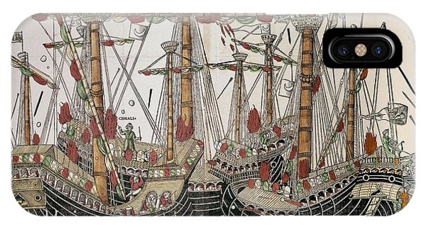 Gateway Arch iPhone Case - Copper-engraving The Battle Of Zonchio 1499. by Anonymous Venetian Master