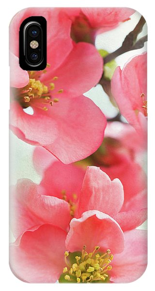 iPhone Case - Coral Quince by Emily Johnson