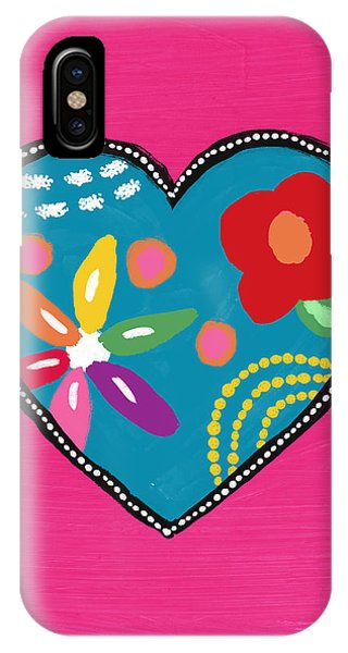 Pink iPhone Case - Corazon 2- Art By Linda Woods by Linda Woods