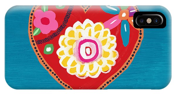 Red Heart iPhone Case - Corazon 3- Art By Linda Woods by Linda Woods
