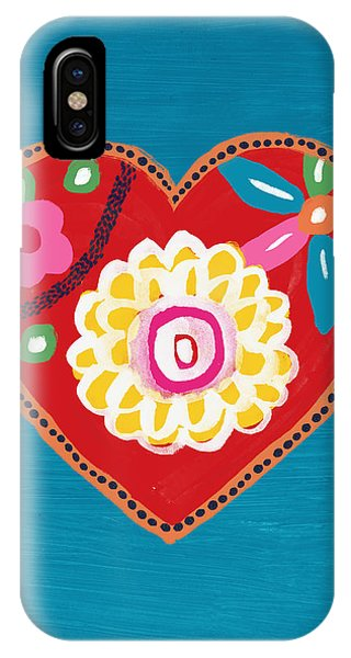 Pink iPhone Case - Corazon 3- Art By Linda Woods by Linda Woods