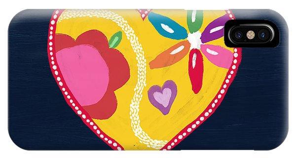 Red Heart iPhone Case - Corazon 4- Art By Linda Woods by Linda Woods