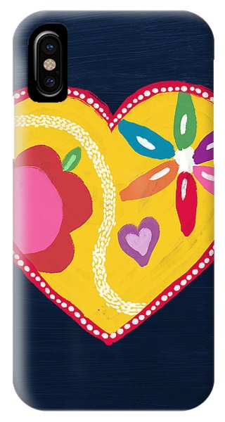 Pink iPhone Case - Corazon 4- Art By Linda Woods by Linda Woods