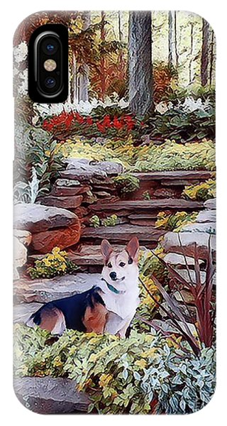Corgi At Highgarden IPhone Case